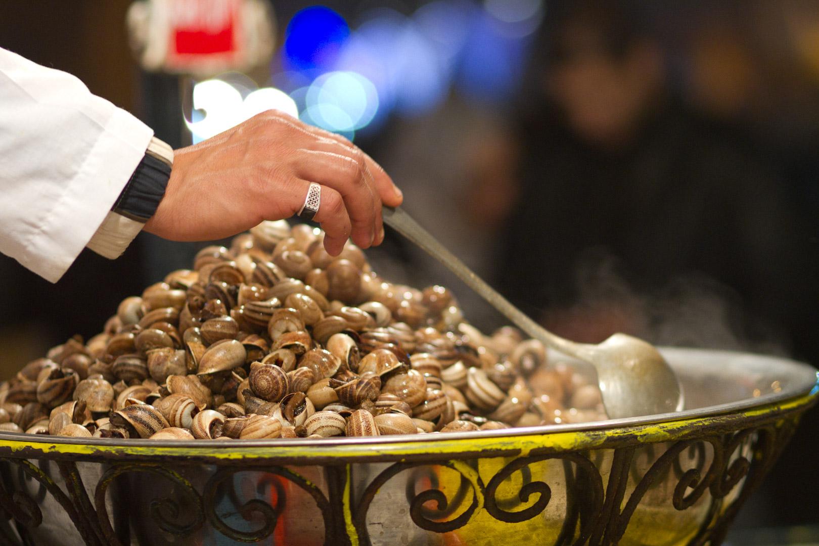 Los caracoles, un plato típico marroquí